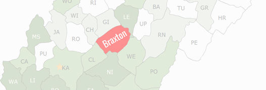 Braxton County Map