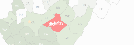 Nicholas County Map