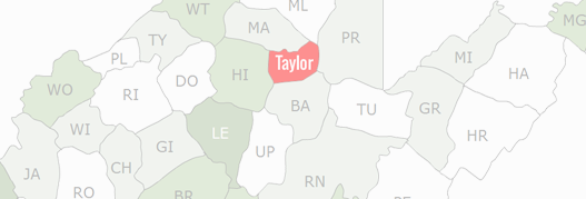 Taylor County Map